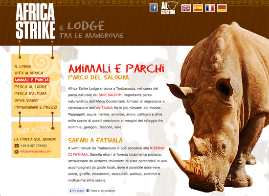 Animals page
